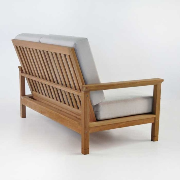 st tropez loveseat back angle view