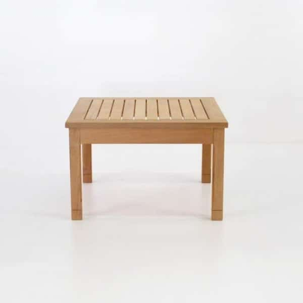 st tropez teak side table end view