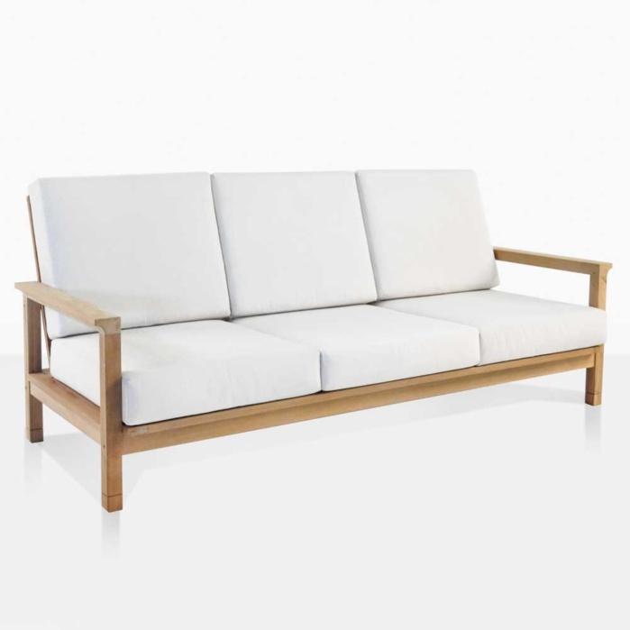 St. Tropez Teak Outdoor Sofa | Patio Lounge Furniture | Teak Warehouse