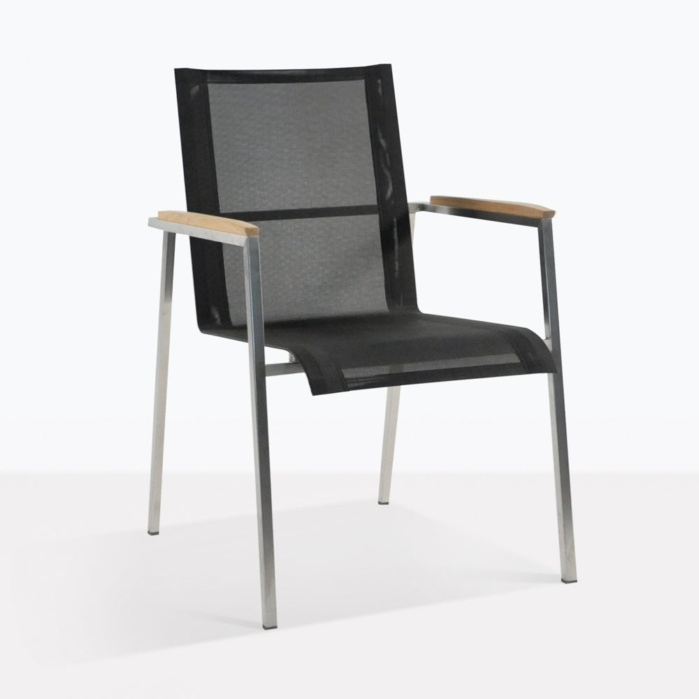 Summer Steel Stacking Dining Arm Chair