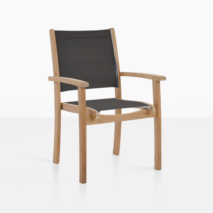 Tango Teak And Mesh Dining Arm Chair