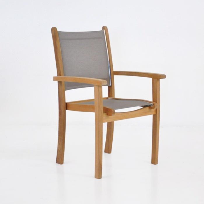 Tango Teak Chair (Taupe)-0