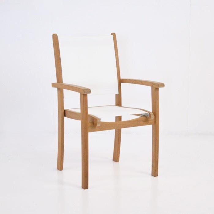 Tango Teak Chair (White)-0