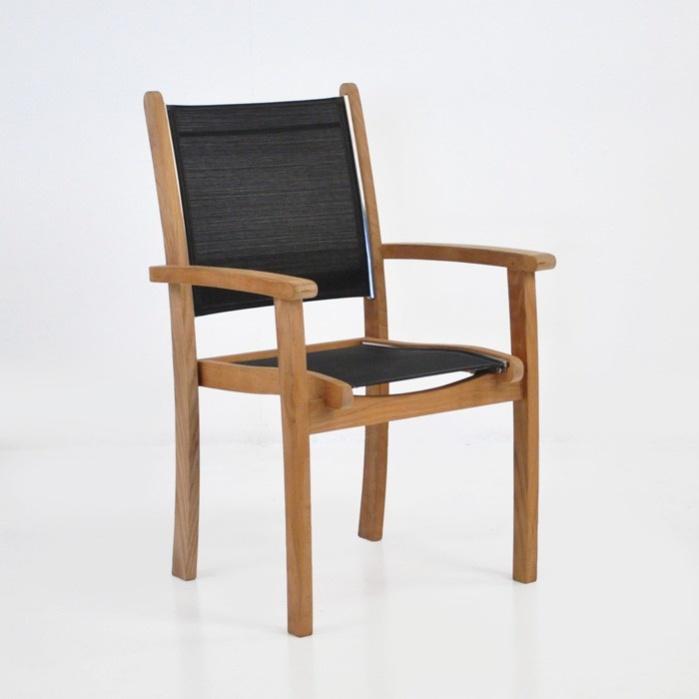 Tango Teak Chair (Black)-0