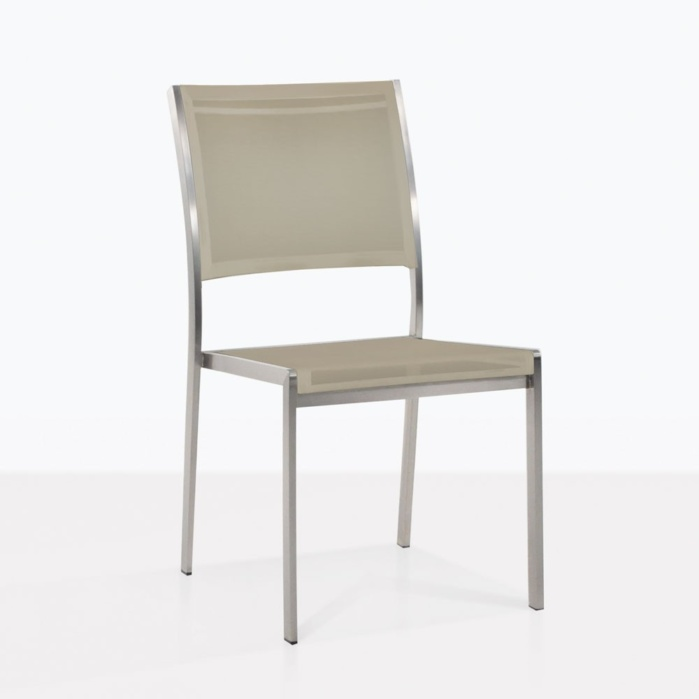 Classic Stainless Steel And Batyline Dining Chair