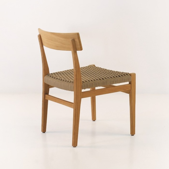 teak dining chair with soft seat