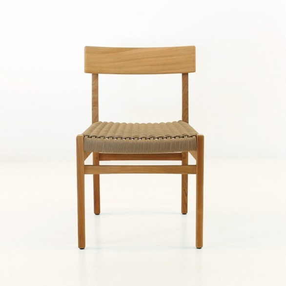 a-grade teak dining chair for indoor or outdoor