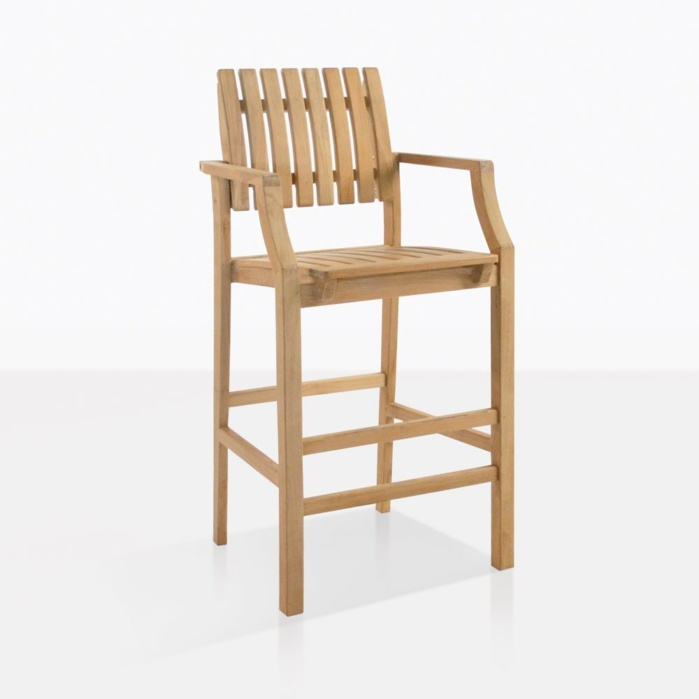 Toscana Teak Bar Stool With Arms