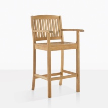 Verona Teak Bar Chair