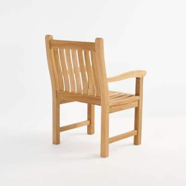 wave teak dining armchair back