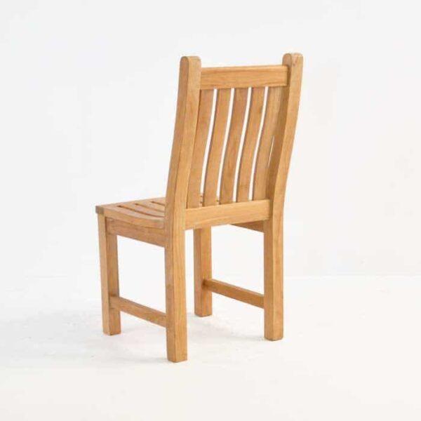wave teak dining side chair back