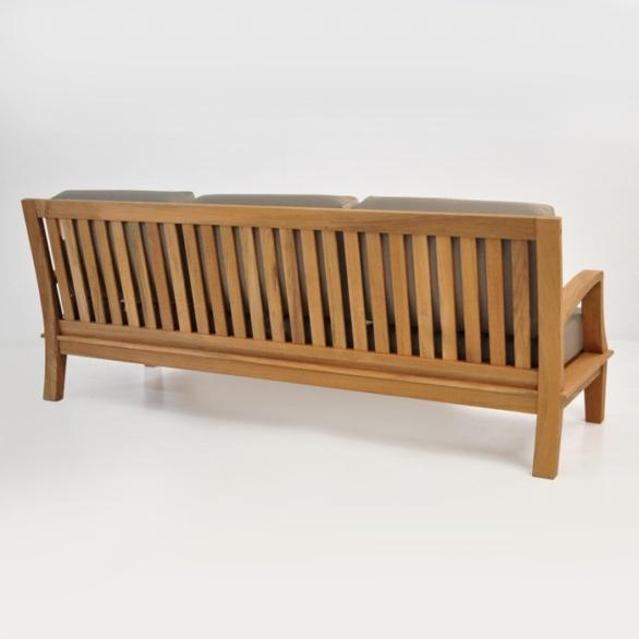 westminster outdoor teak sofa back view