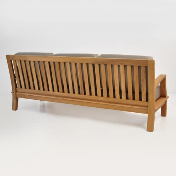 Patio Furniture - westminster outdoor teak sofa back view