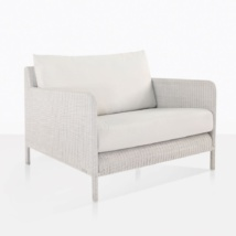 Zambezi Large White Wicker Chair