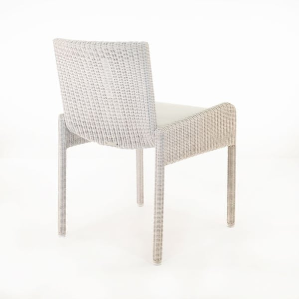 patio wicker dining chair with cushion