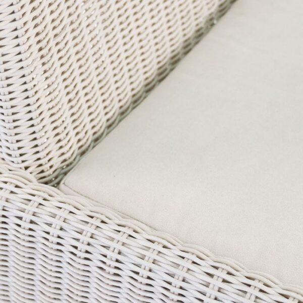 White wicker weave