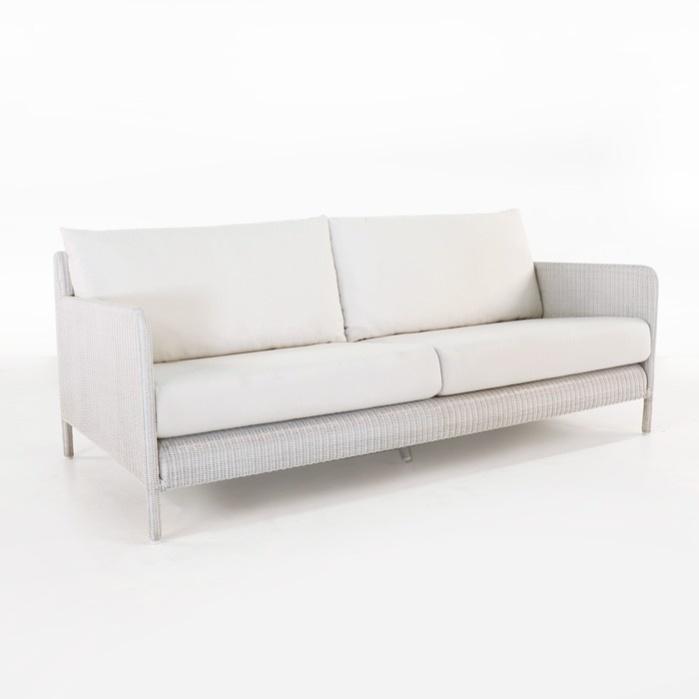 Zambezi Outdoor Wicker Sofa (Chalk)-0
