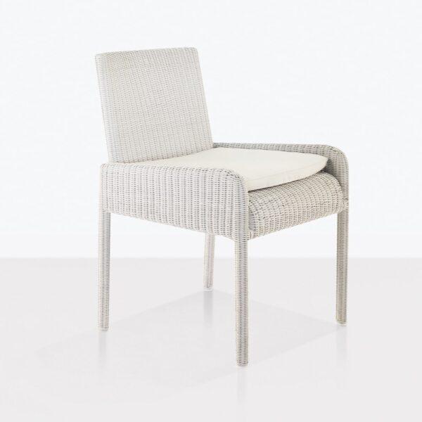 zambezi dining arm chair chalk white angle