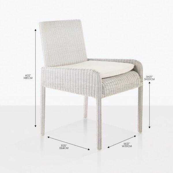 zambezi wicker dining arm chair