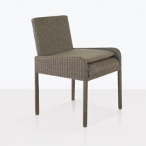 zambezi dining arm chair pebble angle