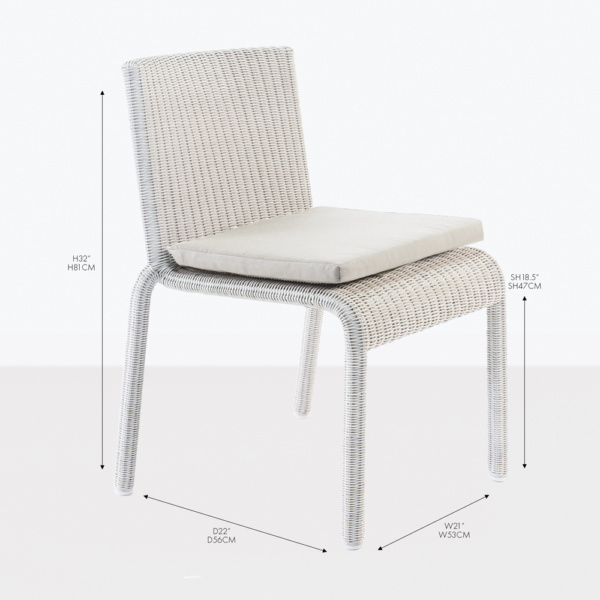zambezi zambezi wicker dining side chair