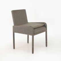 Zambezi Wicker Dining Arm Chair (Pebble)-0