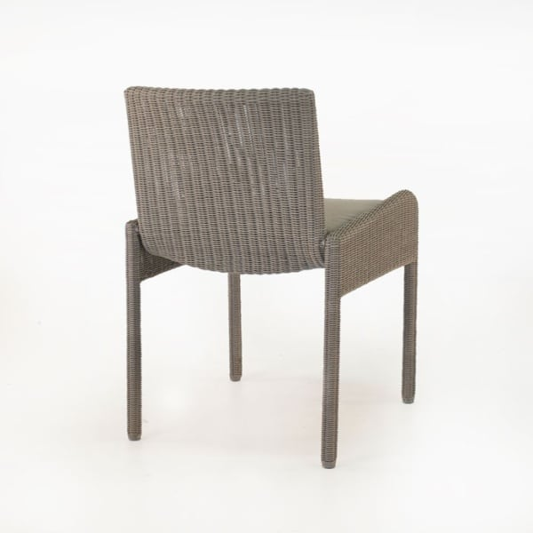 wicker dining arm chair with cushion