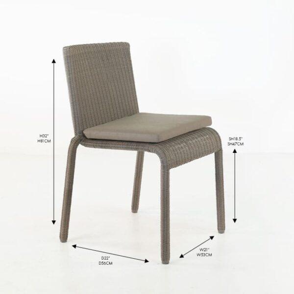 zambezi pebble wicker stacking dining chair