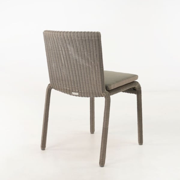 outdoor wicker dining chair - stacking