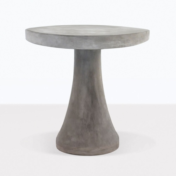 BLOK Round Concrete Table Dining Tables Teak Warehouse - Concrete and metal dining table