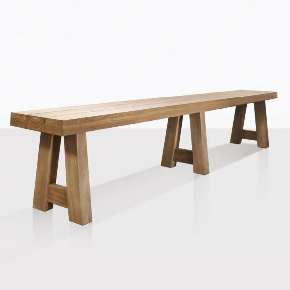 Blok Teak Outdoor Dining Bench