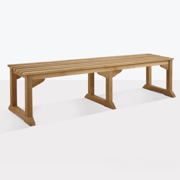 Classic Teak Backless Dining Bench Large