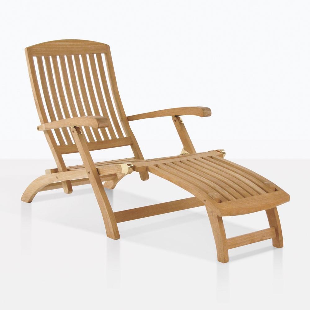 Classic Teak Steamer Chair Sun Loungers Teak Warehouse