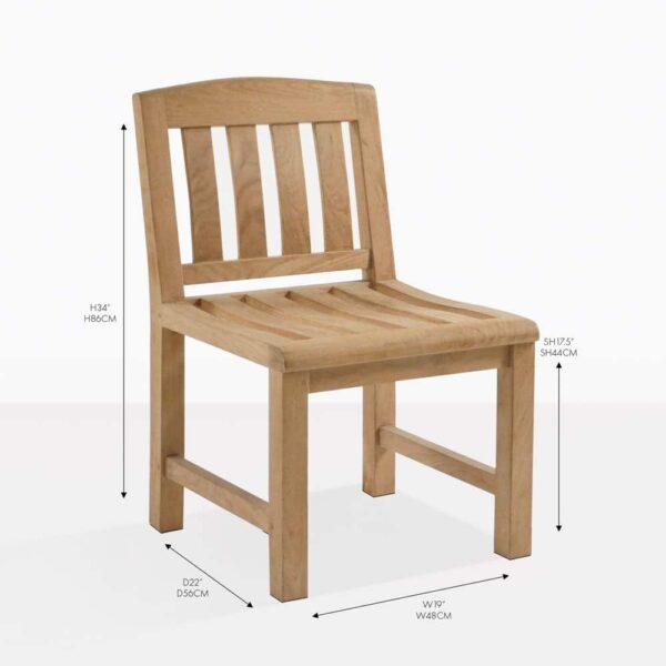newport teak dining chair