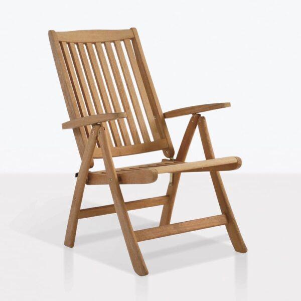 St. Moritz Teak Reclining And Folding Outdoor Chair