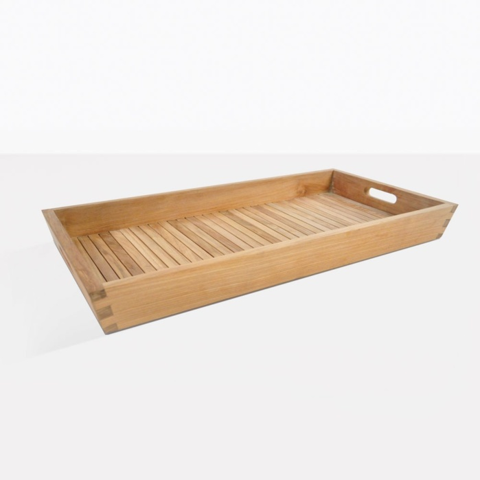 Teak Serving Tray Large Rectangle