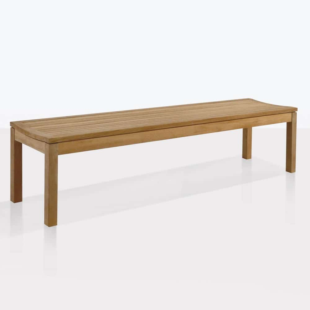 Toscana Teak Backless Bench Outdoor Dining Patio Seating