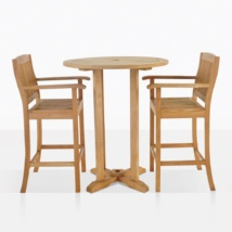 Verona Teak Bar Set For 2