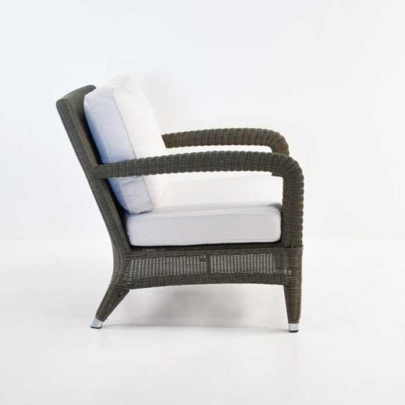 aaron outdoor wicker chair kubu side view