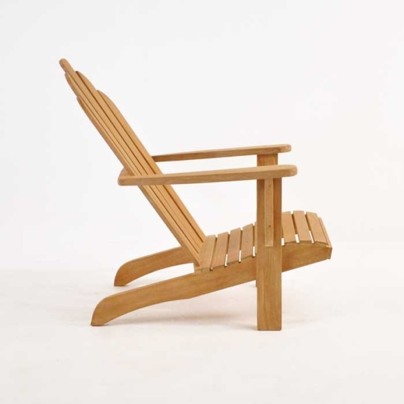 teak adirondack chair side view