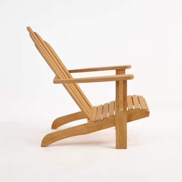 teak adirondack chair side view