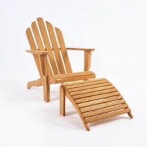 Teak Adirondack Chair Set-0