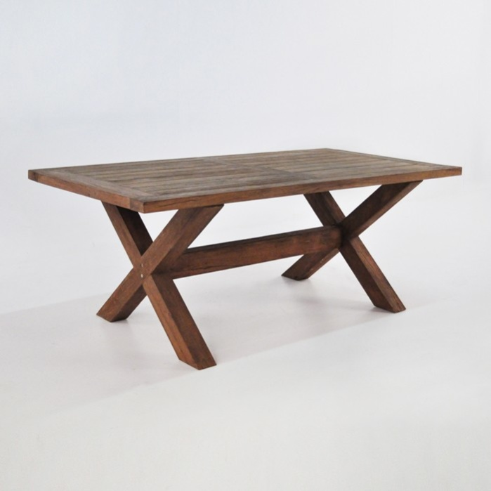 Alfresco X-Leg Table (Reclaimed Teak) | Outdoor Dining | Teak ...