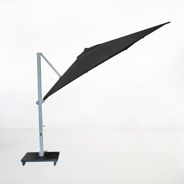 antigua 10ft cantilever umbrella black angle view