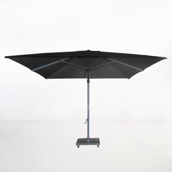 antigua 10ft cantilever umbrella black front view