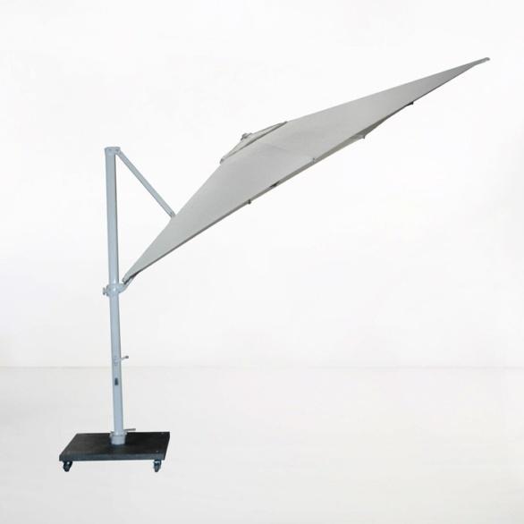 antigua 10ft cantilever umbrella grey angle view