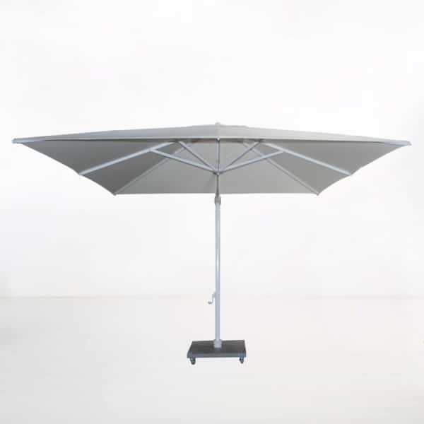 antigua 10ft cantilever umbrella grey side view