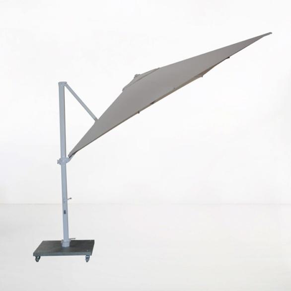 antigua 10ft cantilever umbrella taupe angle view