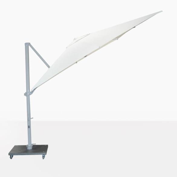 Antigua White Cantilever Umbrella Angle