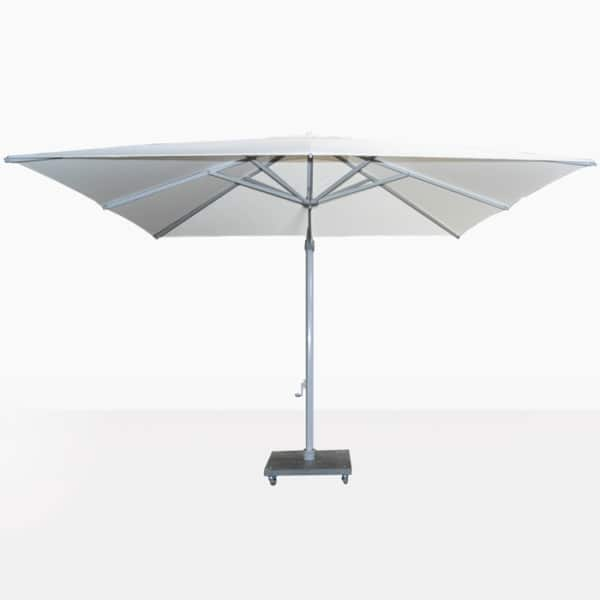 Antigua White Cantilever Umbrella Open